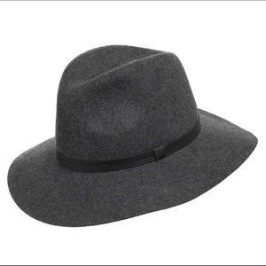 Ultrafino Aster Wool Felt Fedora Floppy Hat Gray